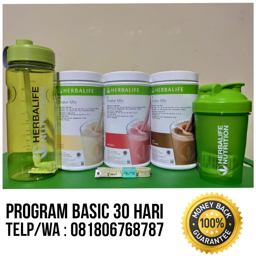 Program Basic 30 Hari Paket Diet Herbalife Atasi Berat Badan & Perut Buncit Hub Uty: 0818-0676-8787
