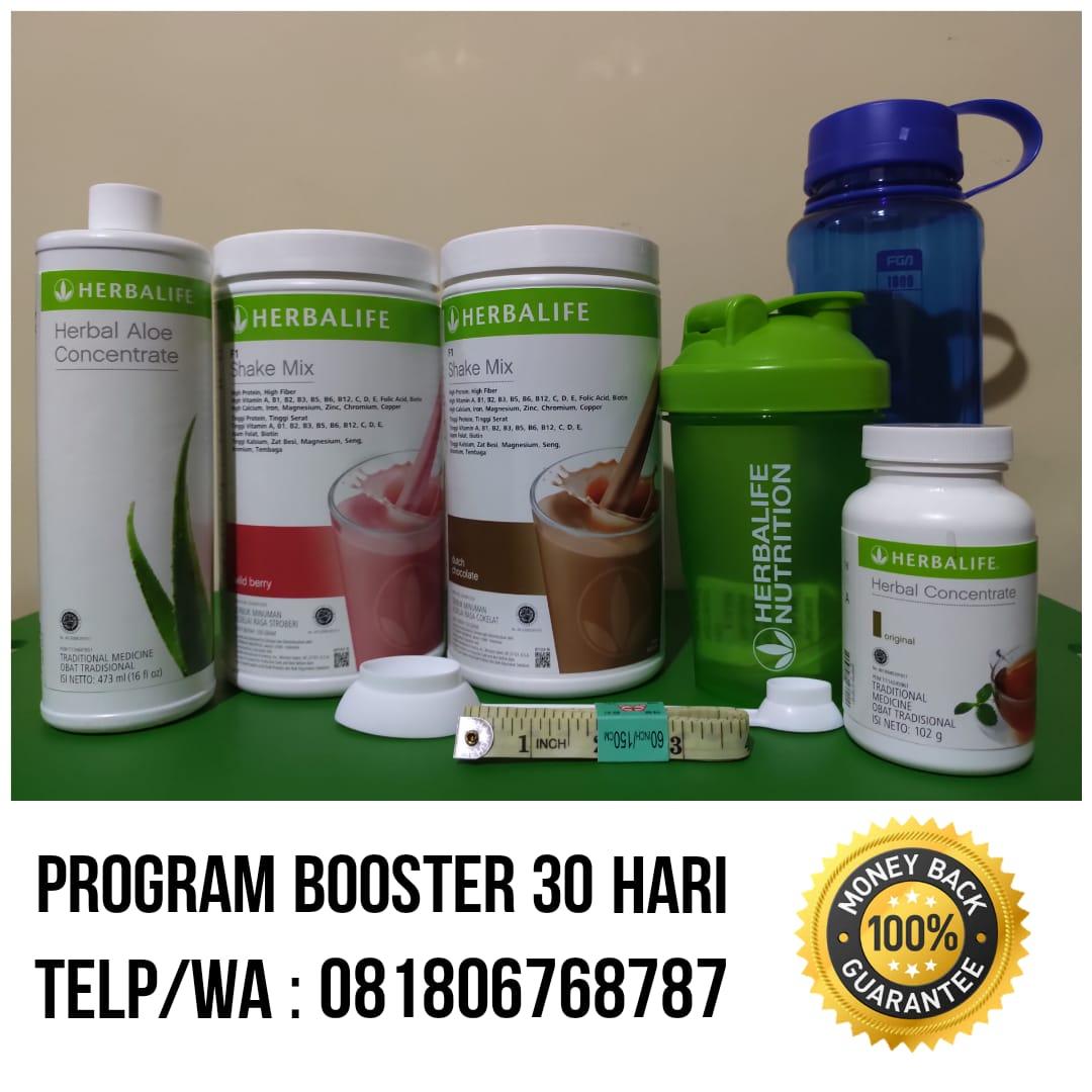 Paket Turun Berat Badan Herbalife Program Booster 30 Hari